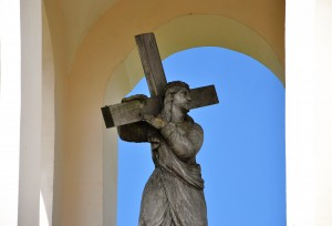 Carrying His Cross