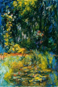 Monet -Coin du bassin aux nympheás
