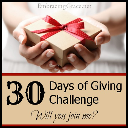 30 Days of Giving Challenge